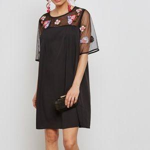 Yumi Embroidered Mini Dress